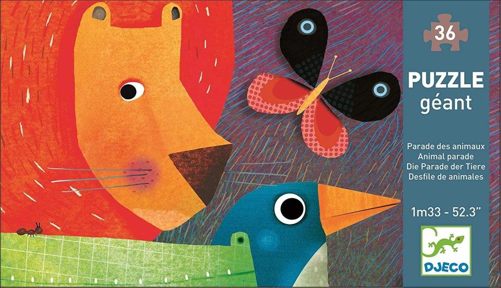 Puzzle géant, La parade des animaux, 36 pcs