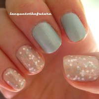 Pastel glitter and silk