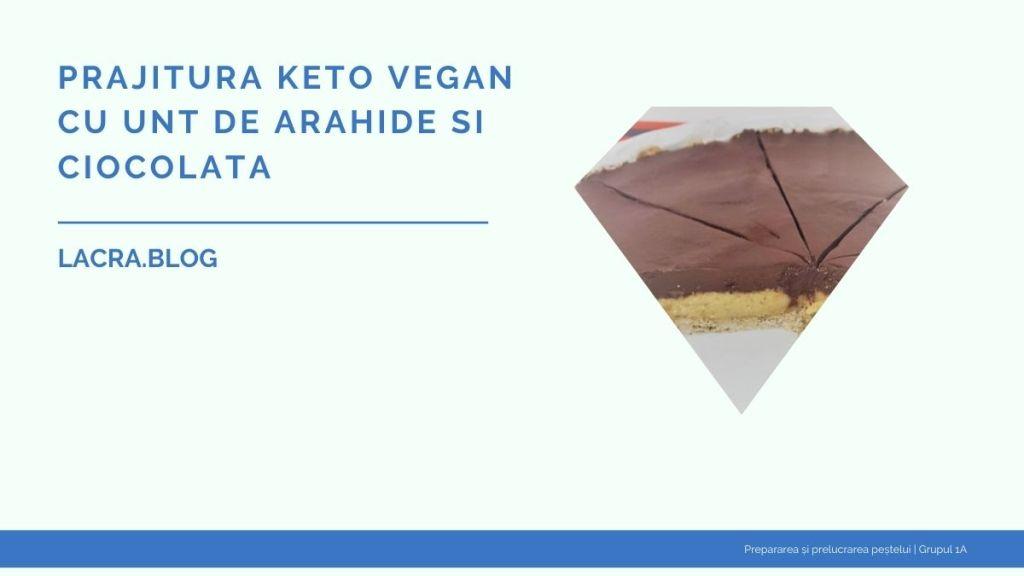 Prajitura keto vegan cu unt de arahide si ciocolata
