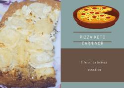 Pizza keto carnivor hiperproteica