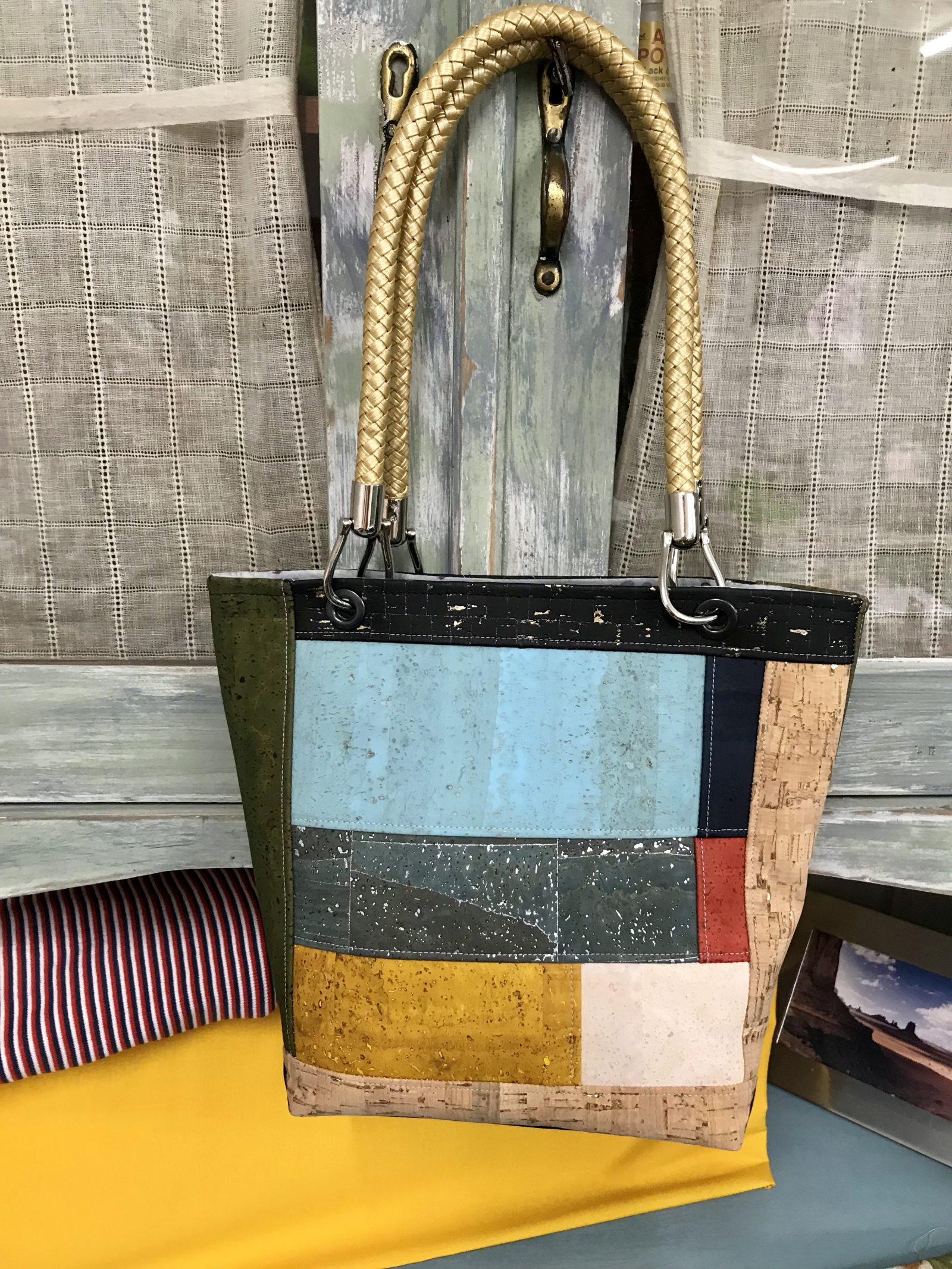 Patchwork Tasche in Kork