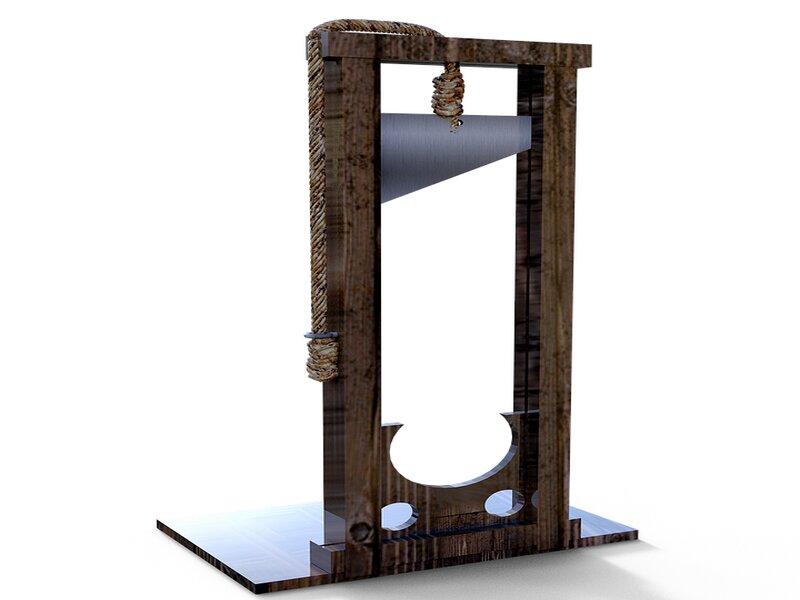 soñar con guillotina