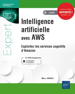 Intelligence artificielle avec AWS, couverture