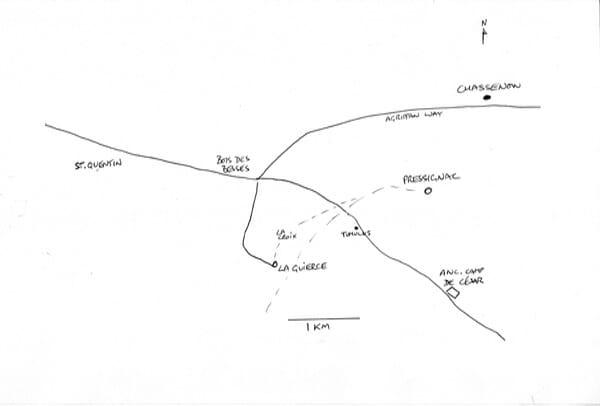 Roman roads around La Guierce & Pressignac