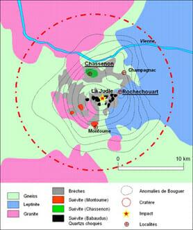 Meteorite impact at La Judie