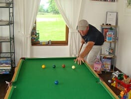 Pool table in the games room