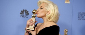 "Lady Gaga poses with the award for Best Performance by an Actress in a Limited Series or a Motion Picture Made for Television for her role in ""American Horror Story- Hotel"" during the 73rd Golden Globe Awards in Beverly Hills, California January 10, 2016. REUTERS/Lucy Nicholson TPX IMAGES OF THE DAY"