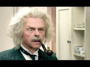 Simon Pegg en un momento hilarante de la película