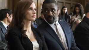 Jessica Chastain e Idris Elba en MOLLY´S GAME