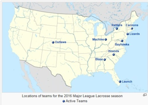 MLL Team Location