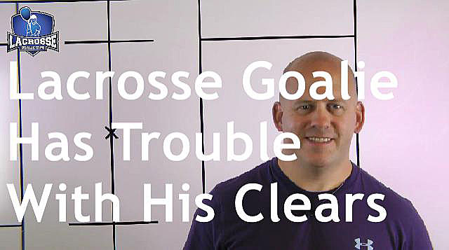 Lacrosse Goalie Has Trouble With His Clears