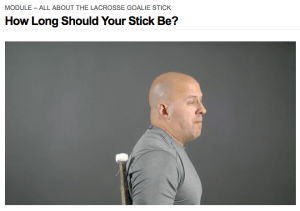 This Lacrosse Goalie Tips Is How Long Should Your Stick Be from LacrosseGoalieUniversity.com