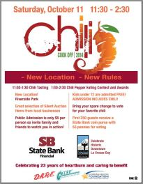 2014 Chili Cook Off Flyer