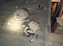 The location where the hand guns were recovered.