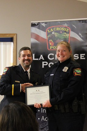 Chief Tischer and Officer Jovanna Randall