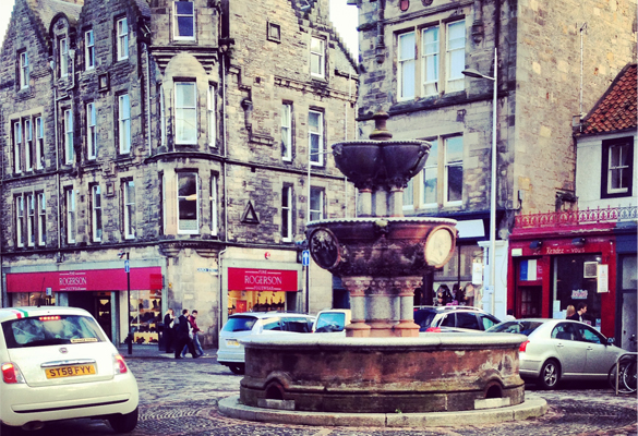 Market Street in St Andrews, Scotland