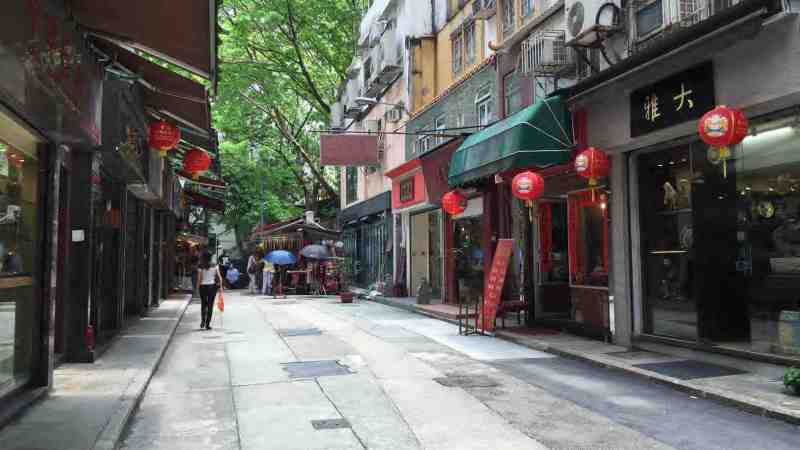 Upper Lascar Row called Cat Street - an antique street next to Hollywood Road