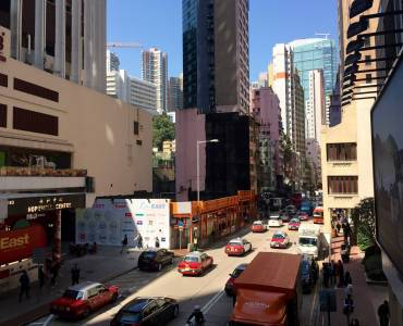 Queen's Road East - busy foodie street in Wan Chai