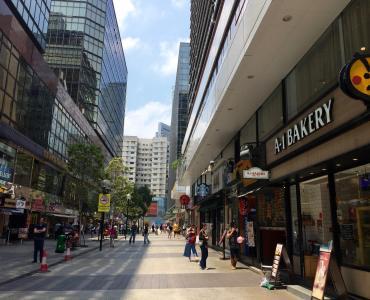 High traffic foodie street on Granville Road Tsim Sha Tsui East