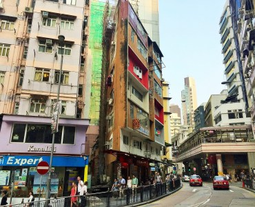 Central Hollywood Road high foodie traffic Hong Kong