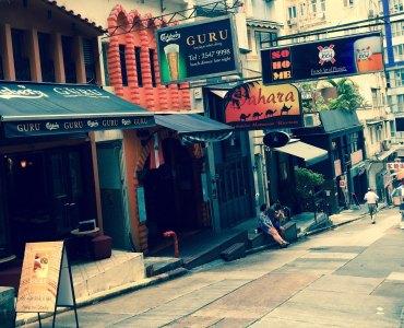 Soho Central Elgin Street intersects with Hollywood Road restaurants bars Hong Kong