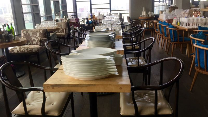 Sale of restaurant equipment and furniture from seafood room