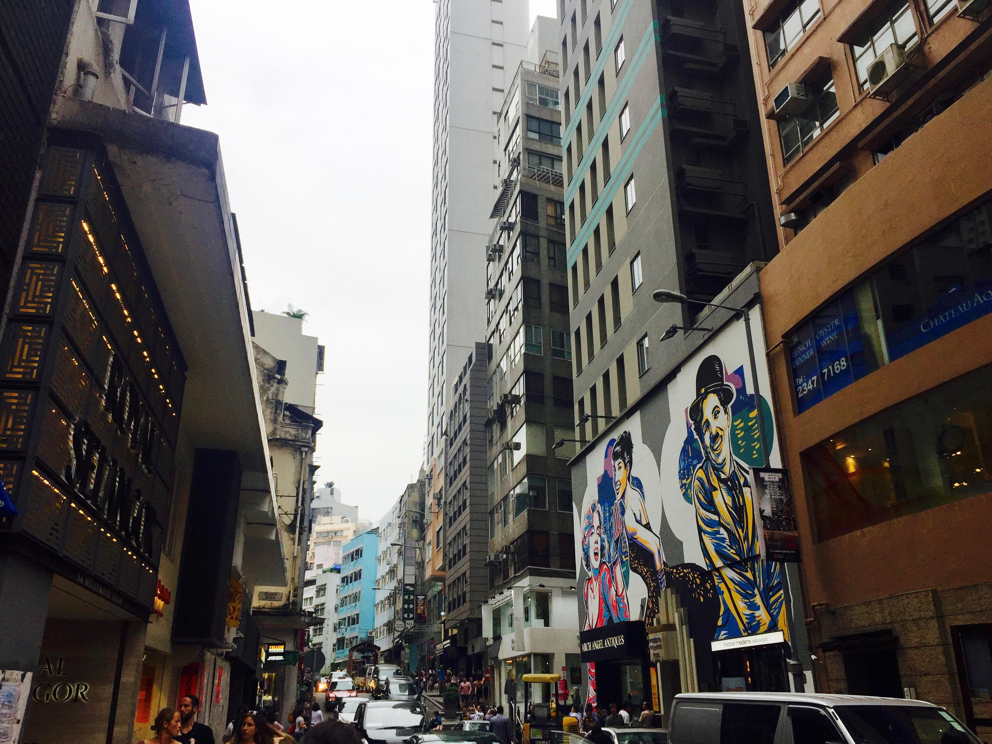 Hollywood Road Central Hong Kong Hip area for restaurants bars cafes coffee shops