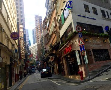 HK Elgin Street Soho Central tourists expats must-go foodie street drinking hole
