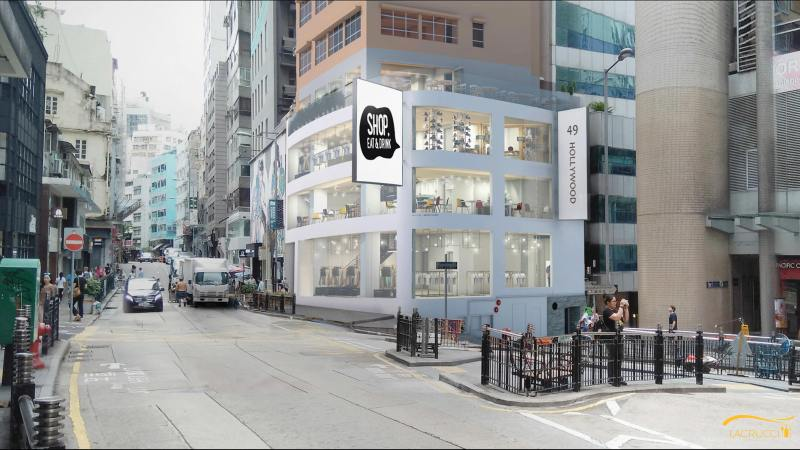 Flagship Restaurant Shop Space for Rent in Hollywood Road Central HK