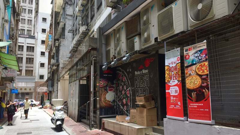 Sheung Wan Double-entrance restaurant space for lease HK
