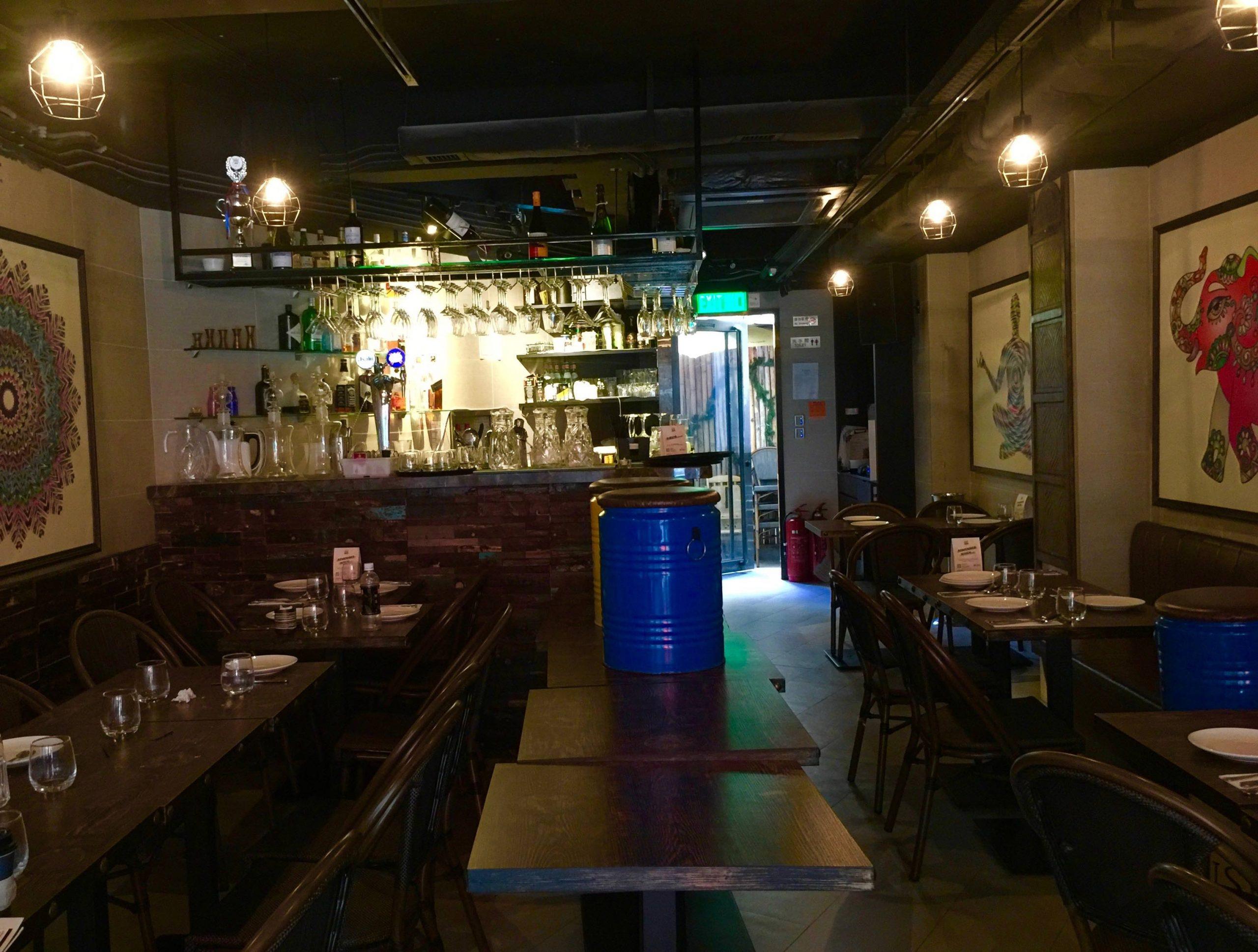 HK Soho Restaurant Bar for Sale with open backyard