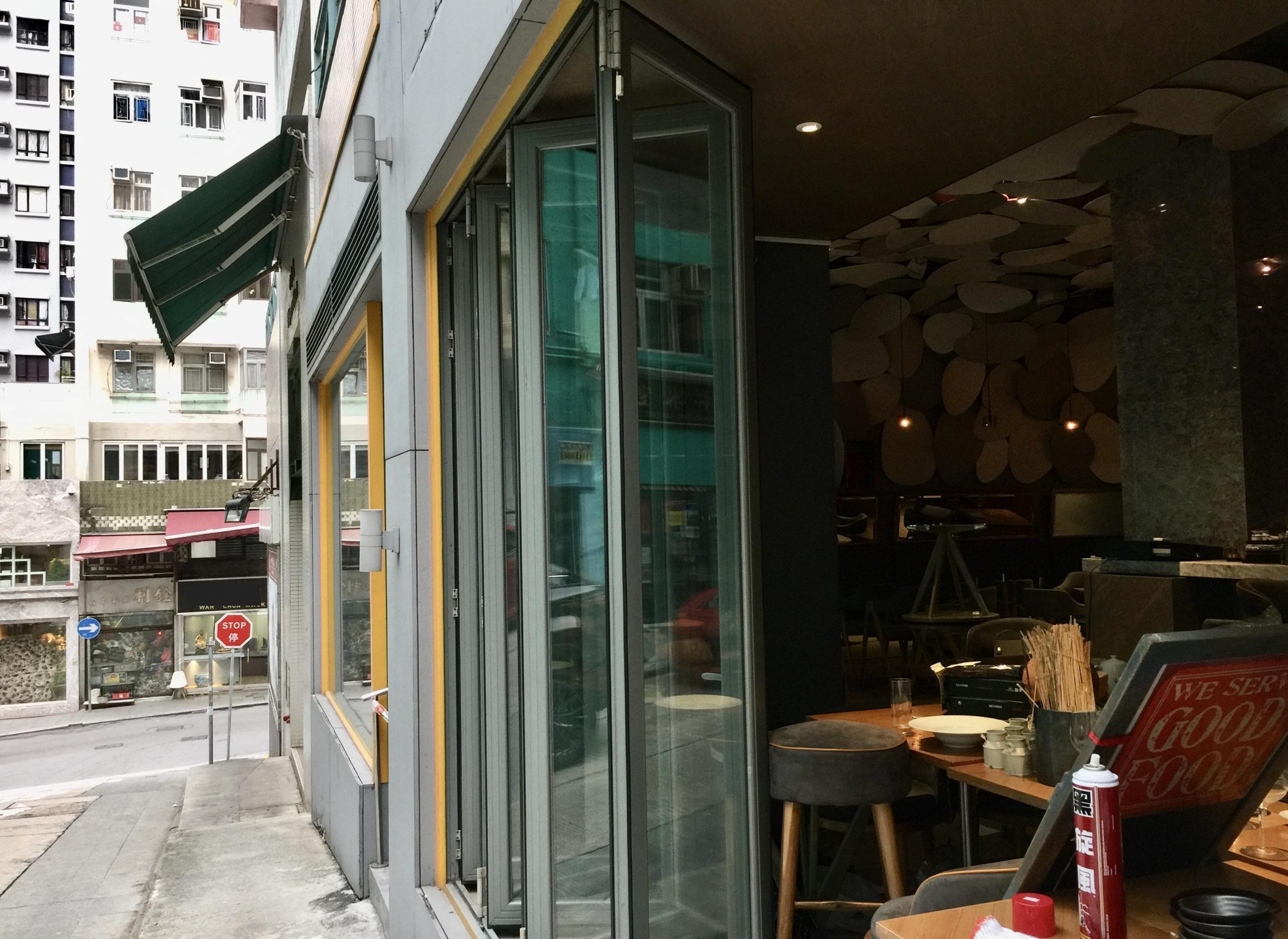 Wide Storefront Leasing Shop with restaurant fitting in HK