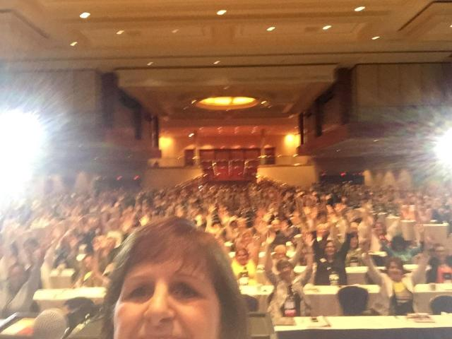 "And our President, Decalie Brown, made sure we got a ""selfie"" of the whole crowd during her President's Address."