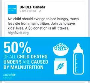 UNICEF's infograpic, in clear violation of the International Code of Marketing Breastmilk Substitutes.