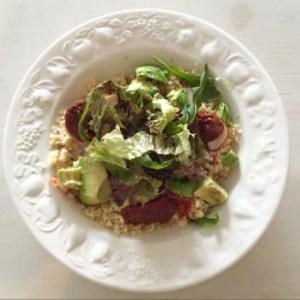 salade bulgur met gerookte kip