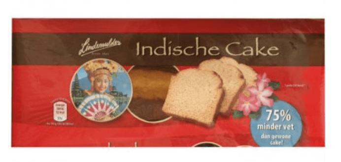 Indische cake - lactosevrije cake