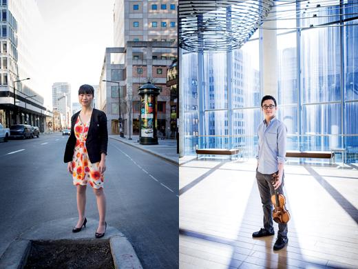 Lauren Liu, députée néo-démocrate aux Communes, et Andrew Wan, premier violon de l'Orchestre symphonique de Montréal. Photos de cet article : © Jean-François Lemire