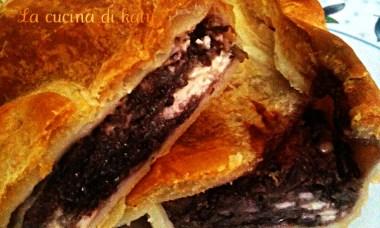 torta salatl, radicchio, radicchio trevigiano, radicchio rosso di treviso, stracchino di bufala