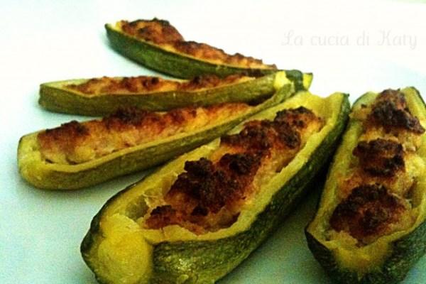 Zucchine ripiene di patate