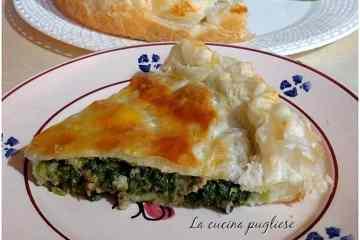 Torta salata con cime di rapa e salsiccia - la cucina pugliese
