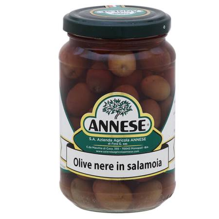 "Olive nere ""Leccino"" in salamoia 350 gr"