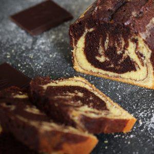 photo du cake marbré