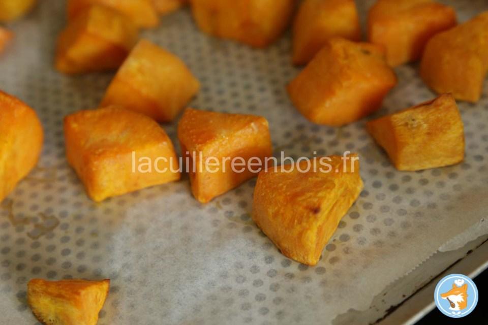 les patates douces cuites