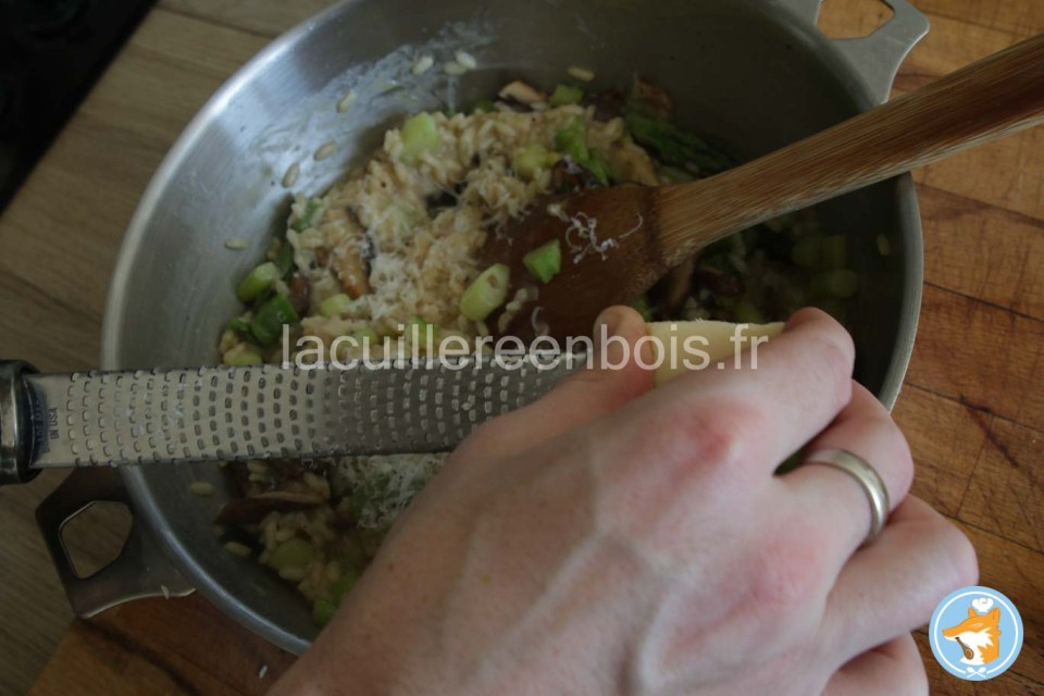 finition du risotto