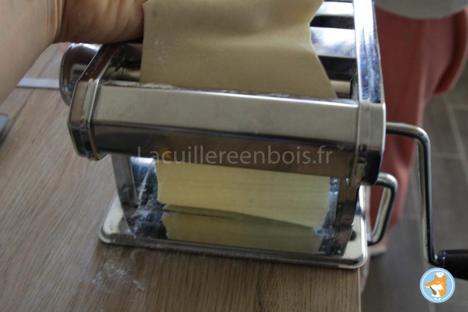 laminage de la pâte à ravioli suite