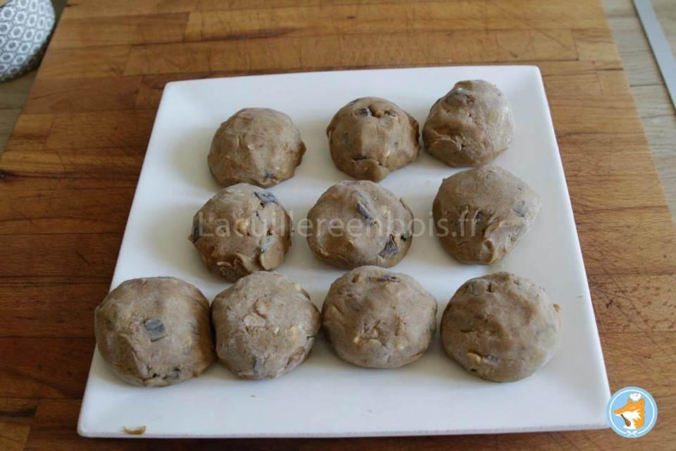 recette de cookies trop bons fourré au gianduja