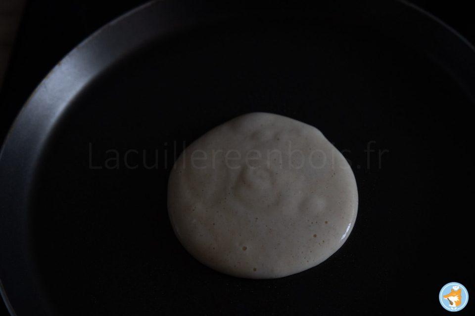 Méthode pas-à-pas de délicieux pancakes moelleux rapide à faire