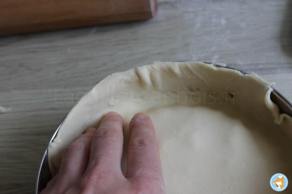 Fermez la tarte tatin de carottes à l'orange