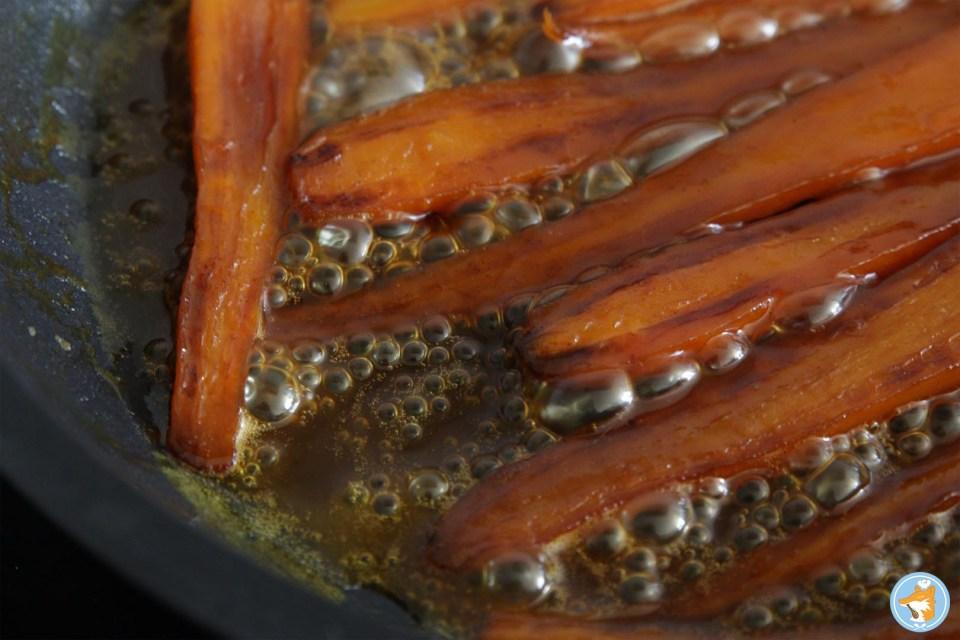 Le caramel d'orange dans lequel les carottes sont confites... un vrai régal!