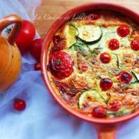 Clafoutis de Courgettes aux Tomates Cerises & au Parmesan